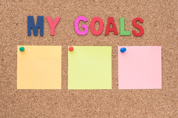 setting goals to manifest weight loss